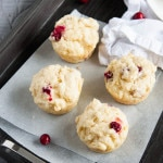 Tart Cranberry Scuffins are a hybrid of a scone and a muffin, and delectable slathered with warm butter and homemade jam for breakfast.