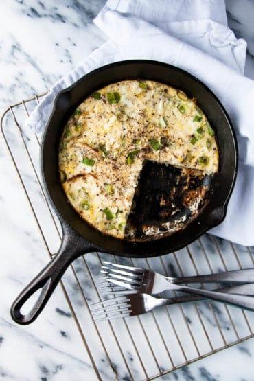 Sweet Potato Feta Frittata is a breakfast to make when you're feeling a little fancy.