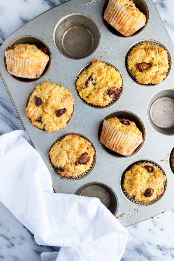 Orange Date Blender Muffins are quick to throw together and a great muffin to keep stashed in your freezer.