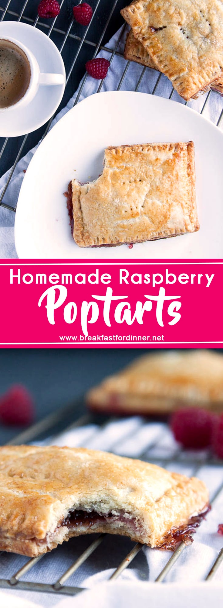 If you love pop tarts, then you will love these Homemade Raspberry Pop Tarts! All the flavor without the fake ingredients!