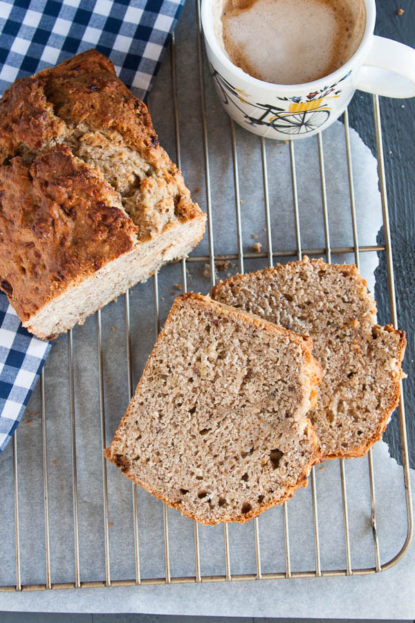 Healthier Banana Bread made with 100% whole wheat!