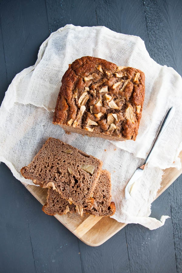Apple Spice Bread: a moist, spiced apple loaf, made healthier with whole wheat flour.