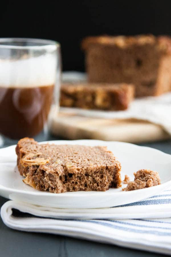 Apple Spice Bread: a moist, spiced apple loaf, made healthier with whole wheat flour.