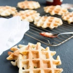 Savory Ricotta Chive Waffles - breakfast for dinner