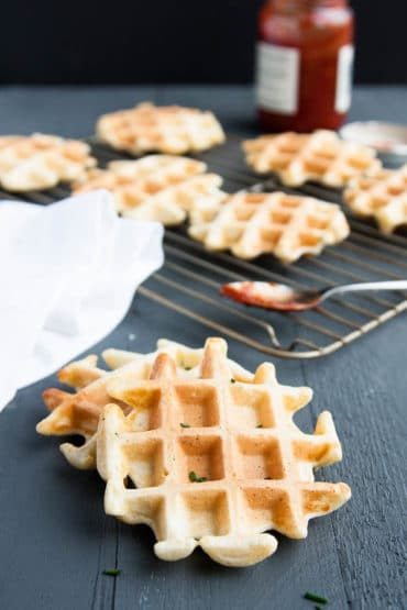 Savory Ricotta Chive Waffles - breakfast for dinner