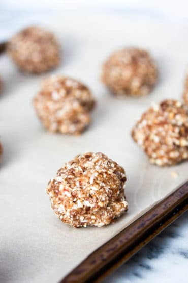 No-Bake Coconut Energy Bites make a quick breakfast to-go or a filling afternoon snack.