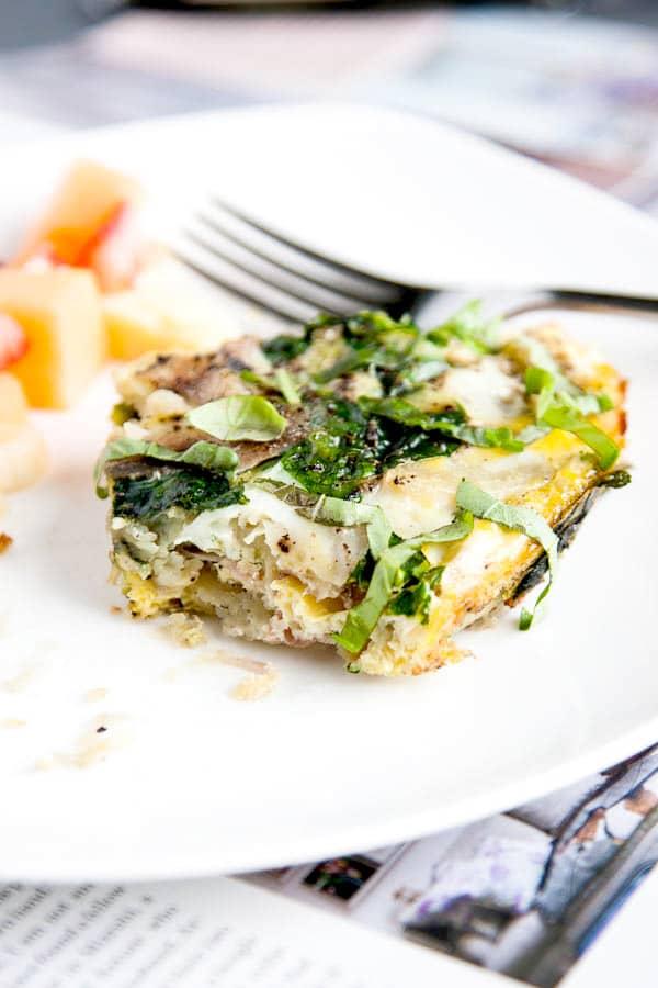 Paleo Sweet Potato Spinach Frittata