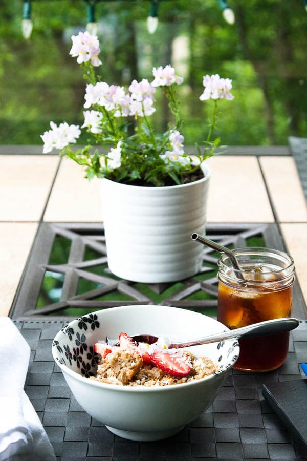 Coconut Cream Baked Oatmeal | breakfast for dinner