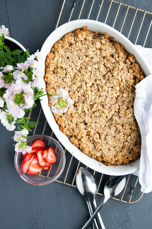 I love coconut - and this Coconut Cream Baked Oatmeal has triple coconut flavour - coconut flakes, coconut milk, and a dot of coconut oil.