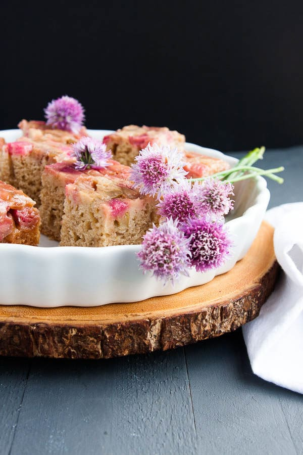 This is not your typical upside-down cake from the 80s. This Upside-down Rhubarb Brunch Cake is the real deal.