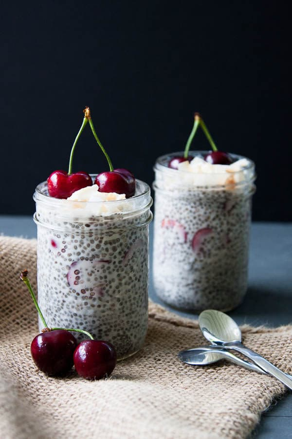 Cherry Coconut Chia Pudding