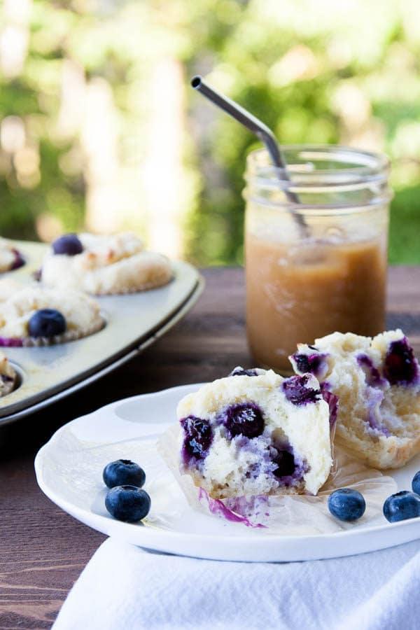 Gluten-Free Lemon Blueberry Ricotta Muffins