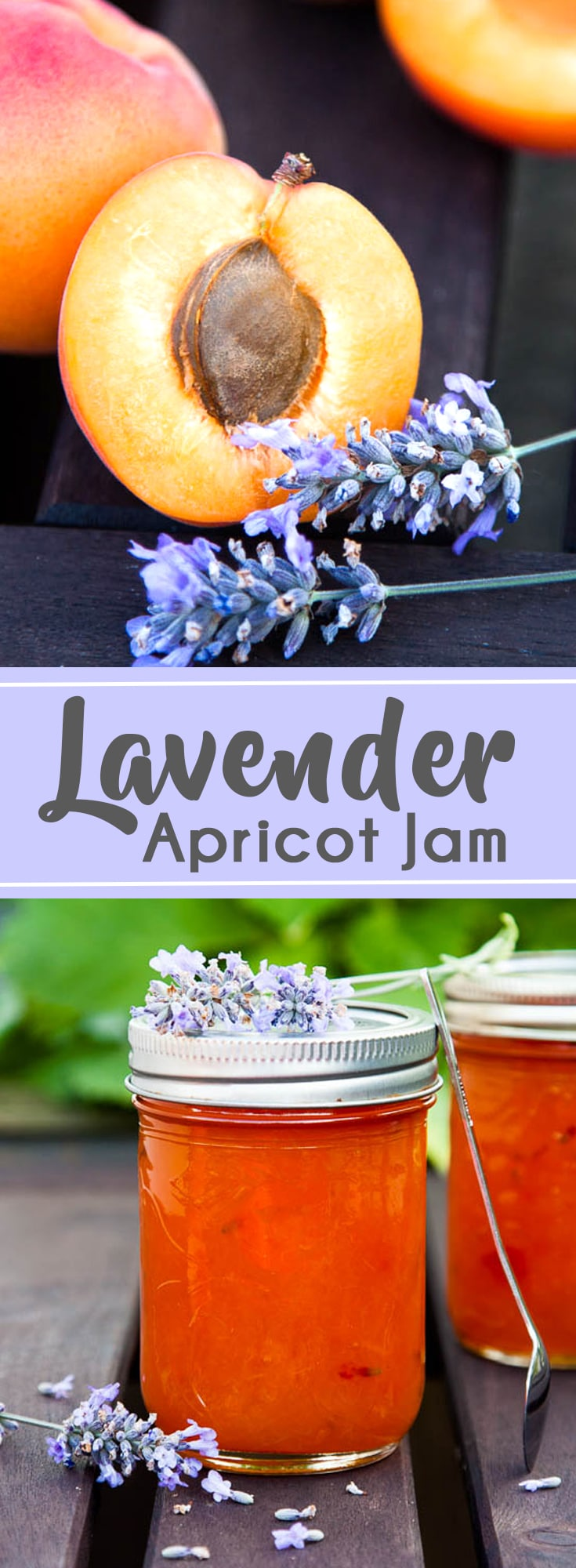 The lavender in this Apricot Lavender Jam adds a subtle floral note - an unexpected and delightful addition. Recipe yields 2 half-pint jars.