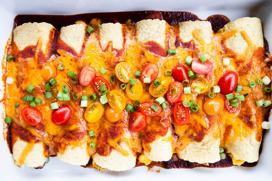 Black Bean Breakfast Enchiladas