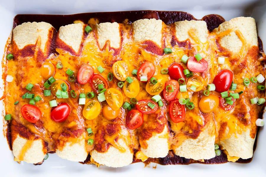 Black Bean Breakfast Enchiladas