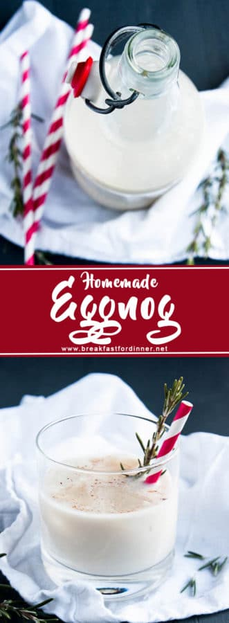 Yes, you CAN make HOMEMADE Eggnog! It's not that hard, I promise! (And it's way more tasty.)