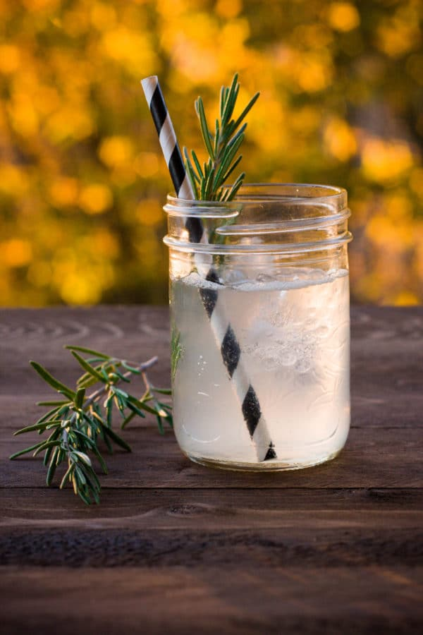 Rosemary Gin Spritzer cocktail | Breakfast for Dinner