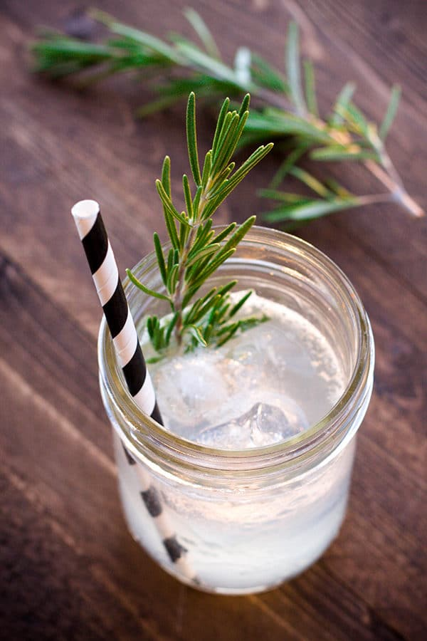 Rosemary Gin Fizz cocktail | Breakfast for Dinner