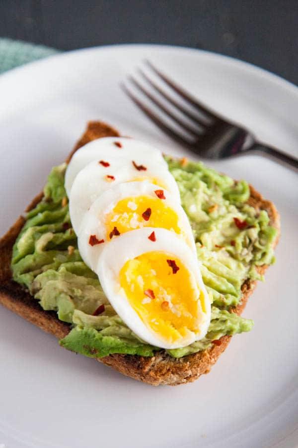 Hard Boiled Eggs with Avocado Toast - breakfast for dinner