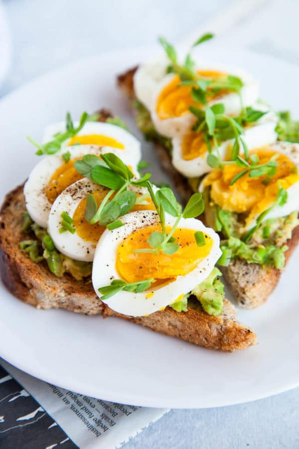 Hardboiled Eggs with Avocado Toast