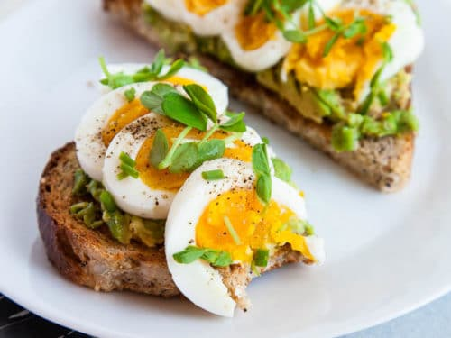 Hard Boiled Eggs With Avocado Toast Breakfast For Dinner