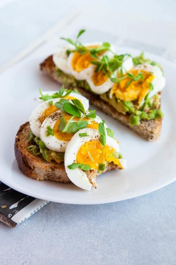 Avocado Toast with Hardboiled Eggs
