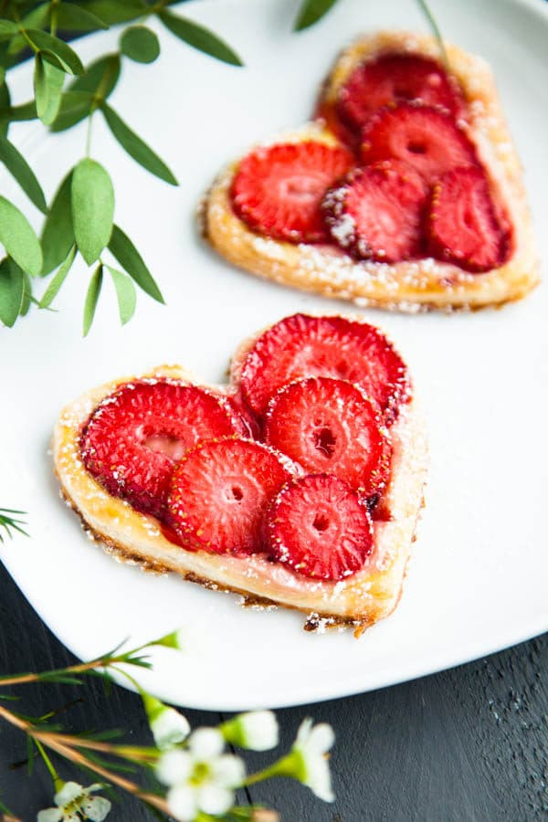 Strawberry Breakfast Pastries quickly come together with just five ingredients - surprise your love with Valentine's Day breakfast in bed!