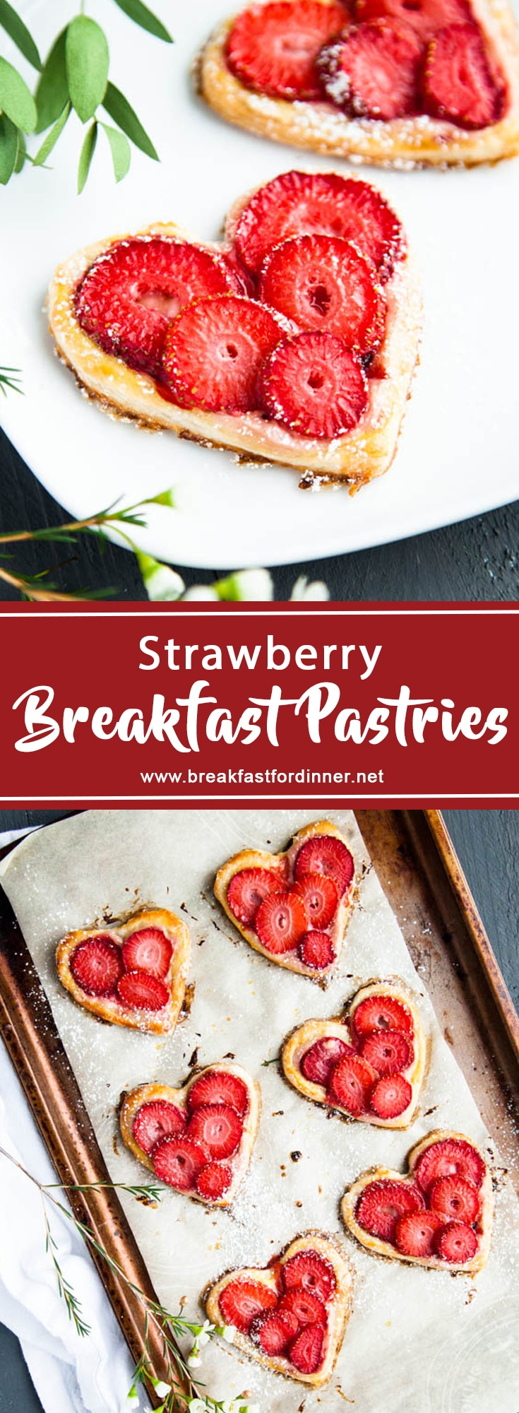 Puff pastry and sliced fruit make these breakfast pastries speedy to assemble!