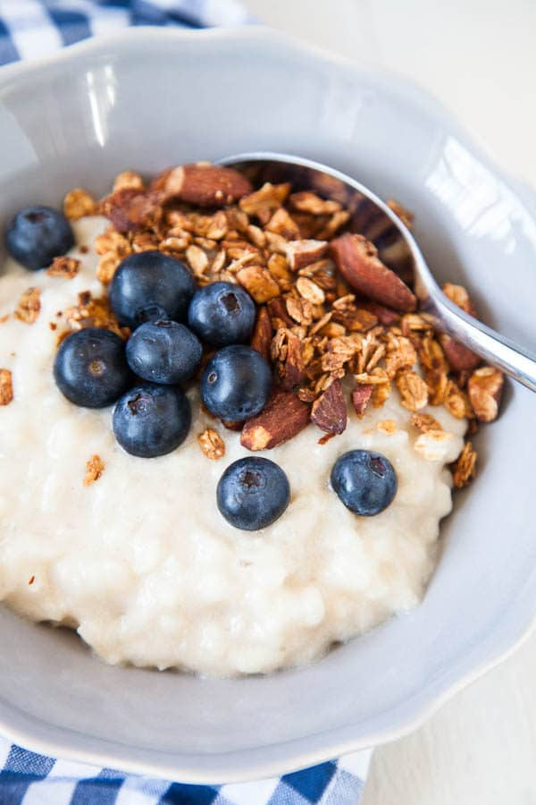 Breakfast Rice Pudding is a lovely alternative to stovetop oatmeal - and is so hygge!