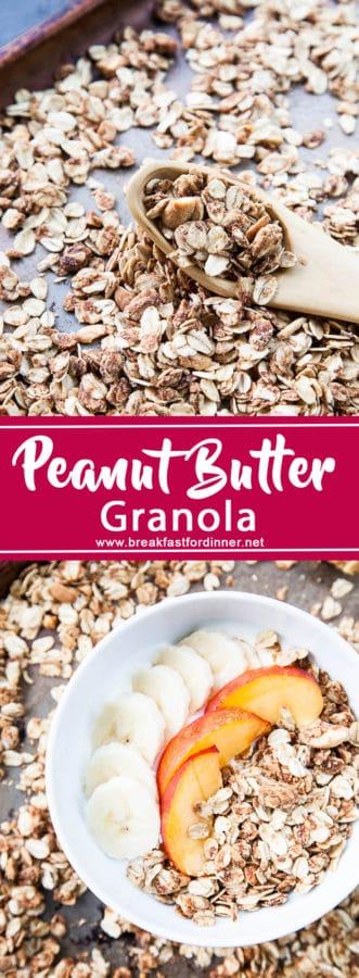 Easy Peanut Butter Granola recipe | breakfast for dinner