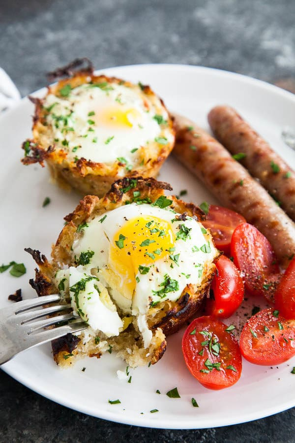 Sweet Potato Egg Nests | breakfast for dinner
