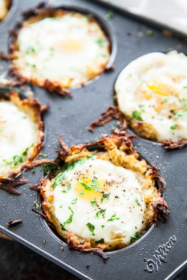 Sweet Potato Egg Nests | breakfast for dinner