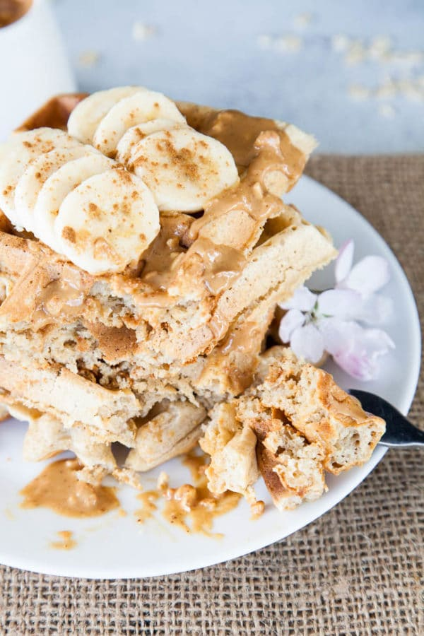 This recipe proves that oat flour waffles can be light, fluffy, and crispy, just like regular waffles! Use certified gluten-free oats to make your own oat flour.
