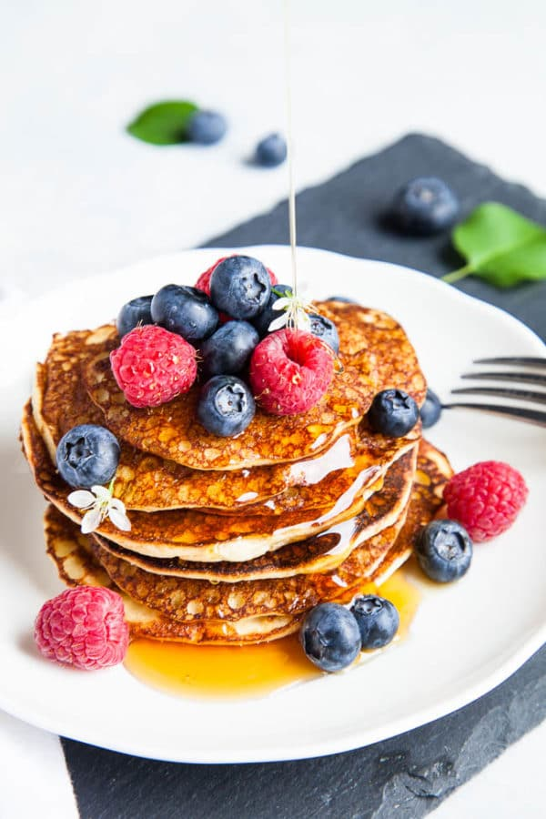 Almond flour pancakes are hearty and nutritious while still remaining fluffy on the inside. If you're looking for a low carb, gluten-free pancake, you've found it!