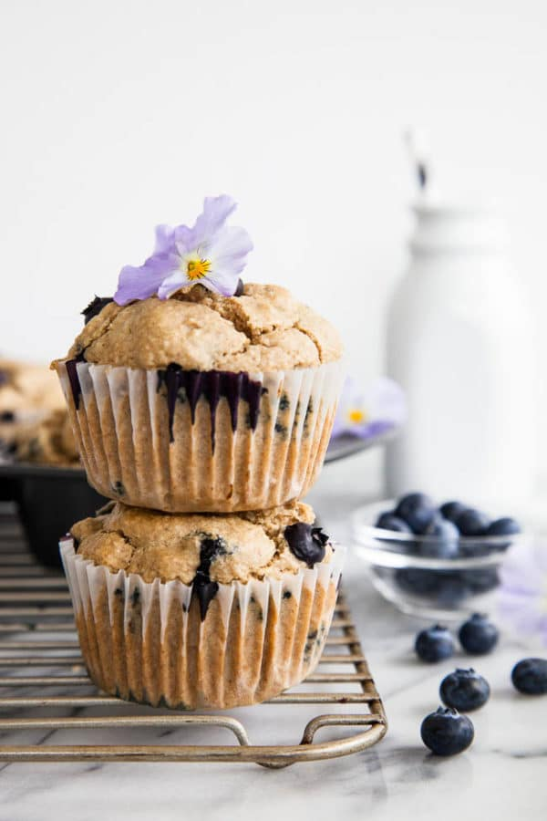 Blueberry Cardamom Blender Muffins are healthy, completely gluten-free, AND dairy-free. There's also no added oil or refined sugars. I think they'll change your life.