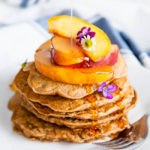 Let's say a little hallelujah for Oatmeal Pancakes. The base is mostly oatmeal, which means they're high in protein and fiber, and hearty to keep you full. Your kids will love them because - they're pancakes!