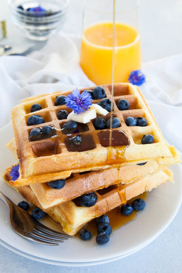 Fluffy Waffles | breakfast for dinner