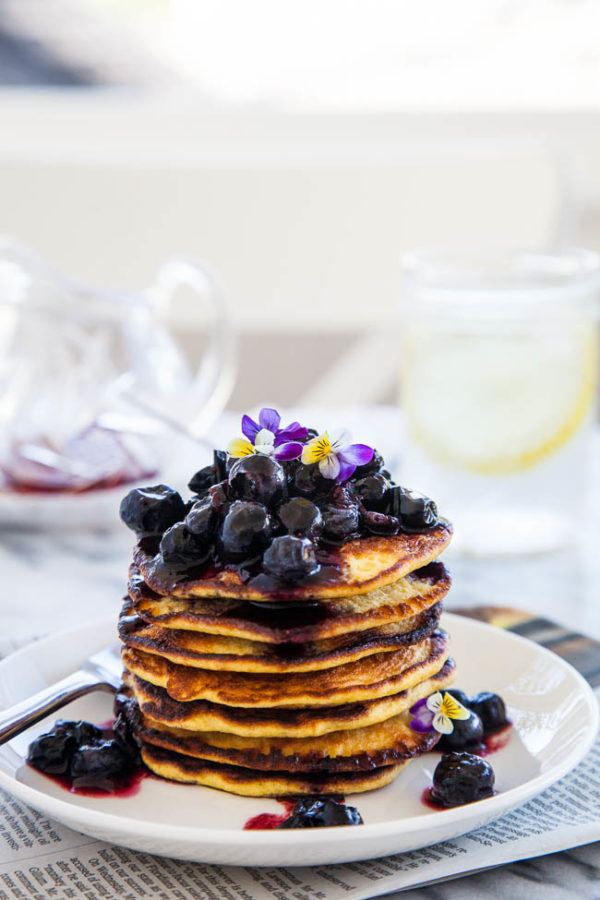 """Gluten and grain-free, high in protein and fibre, Coconut Flour Pancakes are a healthy and filling alternative to regular pancakes! Recipe makes approximately 15 3"""" size pancakes."""